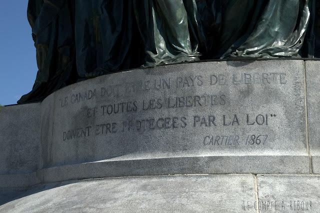Citation de Jacques Cartier à Montréal