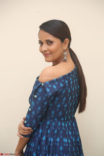 Anchor Anasuya in a Blue Gown at Jai Lava Kusa Trailer Launch ~  Exclusive Celebrities Galleries 028.JPG