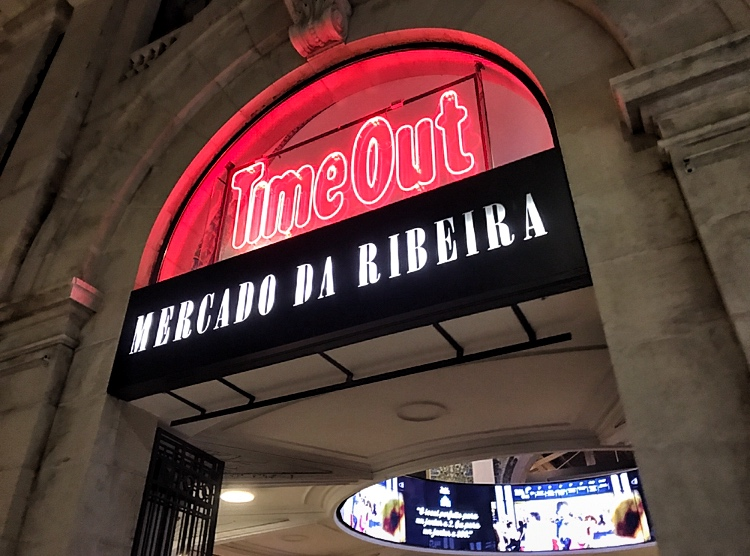 Time Out Market Lisbon Neon Sign