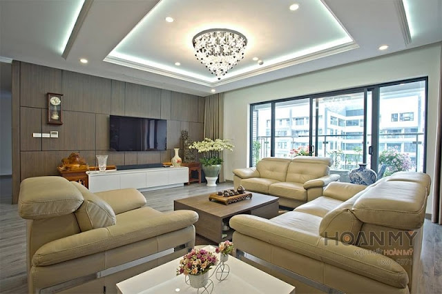 Ghế sofa phòng khách đẹp và đặt đúng phong thuỷ sẽ mang may mắn đến cho gia chủ (Ảnh: ST)