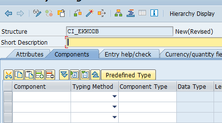 how to create a custom table in sap abap
