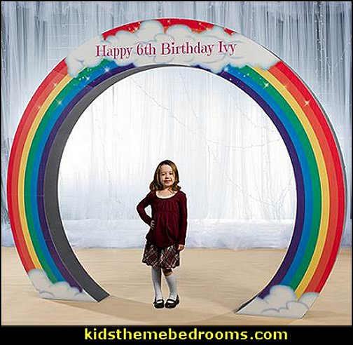 Rainbow Circle Arch  unicorn party supplies - rainbow unicorn party decorations - unicorn birthday party - Unicorn Themed Party -  Unicorn Balloons  -  unicorrn cupcakes - rainbow decorations - Unicorn  Garlands - sequin tablecloth - tutu table skirt -