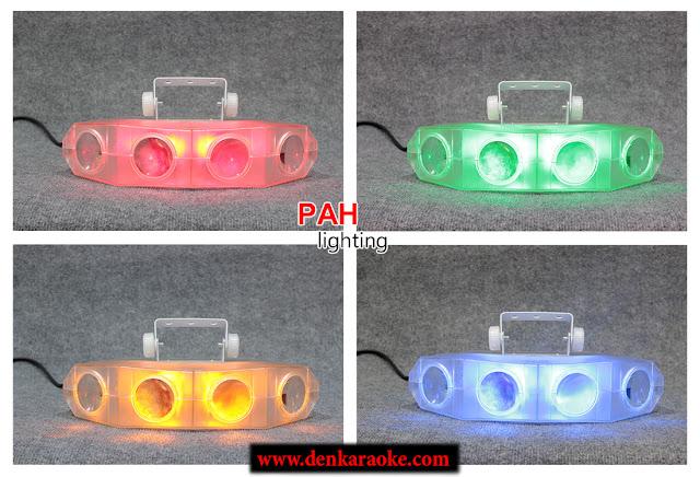 Thiết kế mặt trước đèn với 4 tấm gương cầu sẽ hội tụ ánh sáng từ 4 mắt quét cho ra hiệu ứng màu sắc chất lượng và ánh sáng mạnh mẽ.