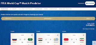FIFA World Cup Match Predictor, Game Tebak Skor Piala Dunia 2018 Berhadiah Apple Macbook