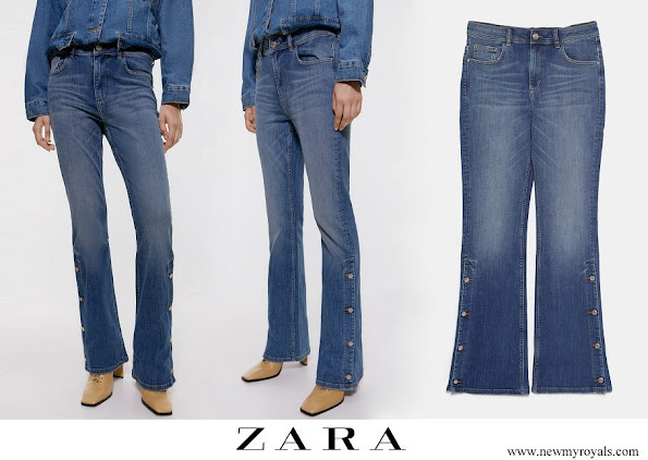 Crown Princess Elisabeth wore Zara Flared-buttoned Jeans