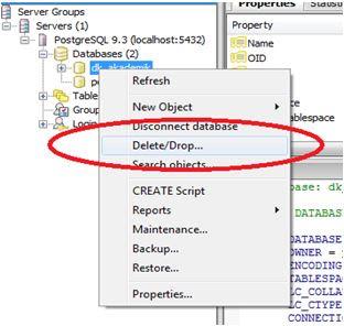 Kelas Informatika - Menghapus Database PgAdmin III PostgreSQL
