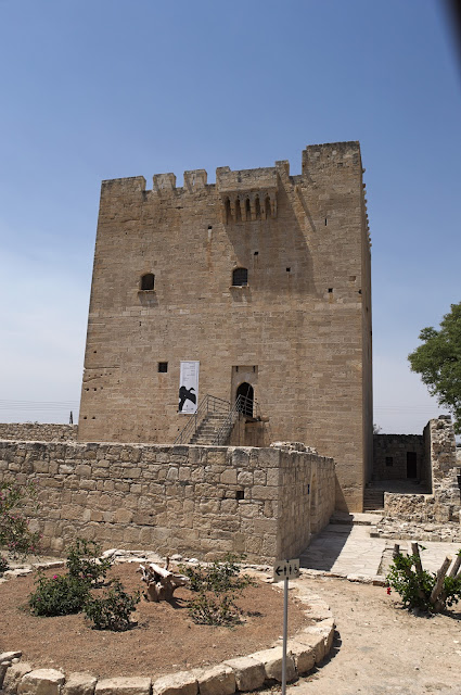 Outside view of the castle in Kolossi, Cyprus.