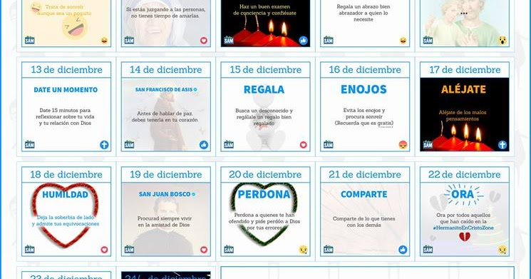 Parroquia la inmaculada calendario adviento 2017 for Calendario adviento 2017