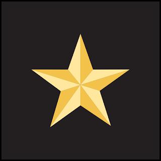 Lambang Sila 1 : Perisai hitam dengan sebuah bintang emas berkepala lima (bersudut lima)