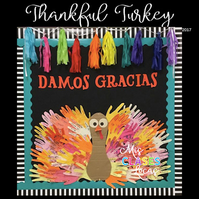 Lista lunes - Thanksgiving in Spanish class