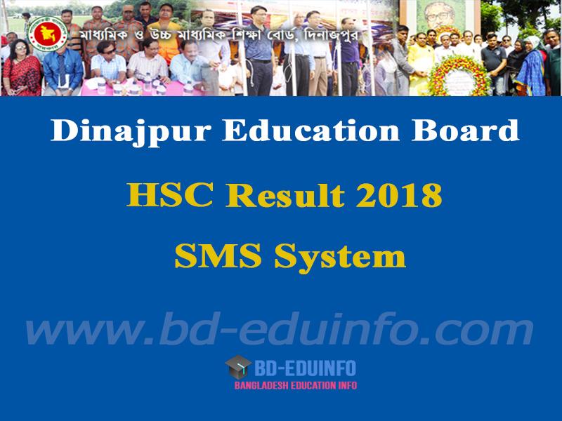 Dinajpur Board HSC Results 2018