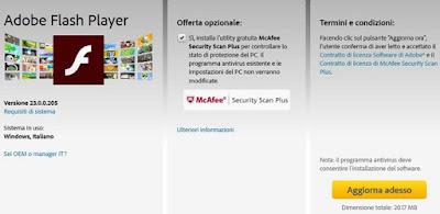 Come aggiornare Adobe Flash Player per Windows