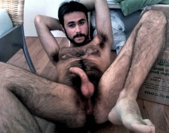 naked hairy arab man