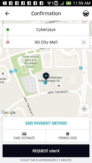 tentukan lokasi uber