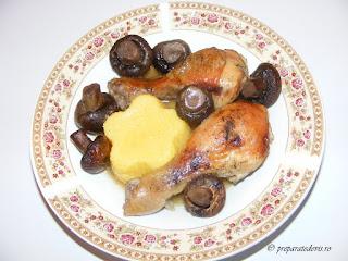 Ciocanele de pui cu ciuperci la cuptor retete culinare,