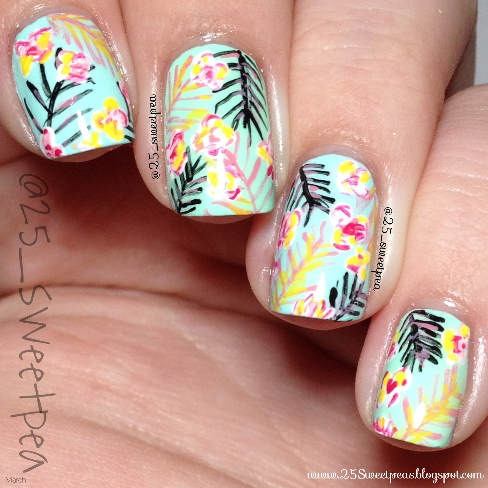 March Nail Artist of the Month: 25_SweetPea! - The Little Canvas