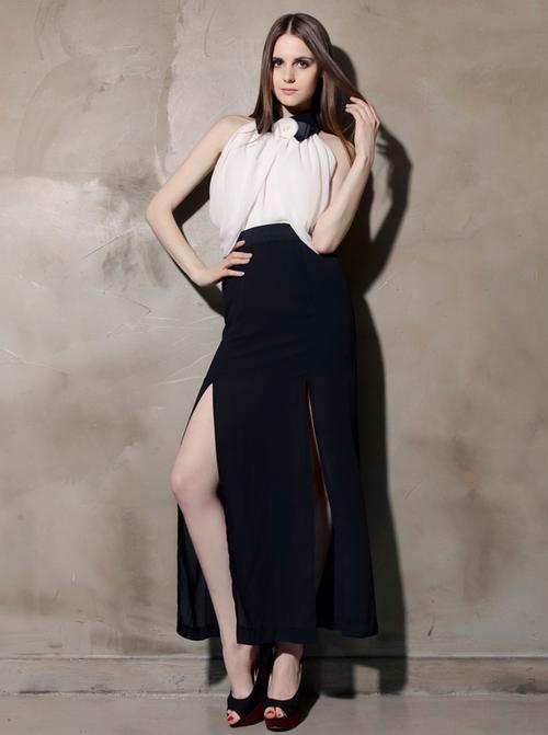 Storets Double Slit Maxi Skirt Kstylick Latest