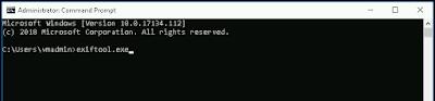 запуск exiftool из командной строки windows