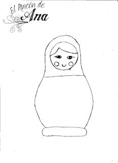 Matrioshka aplicada a una camiseta