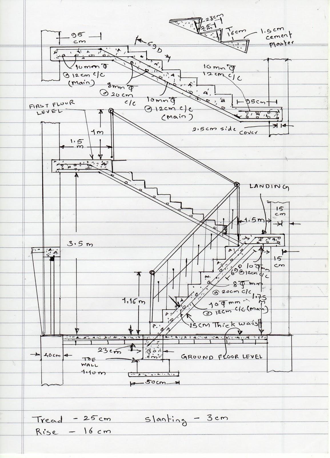 Volume Of Concrete Slab : How to calculate staircase concrete quantity مجلتك المعمارية