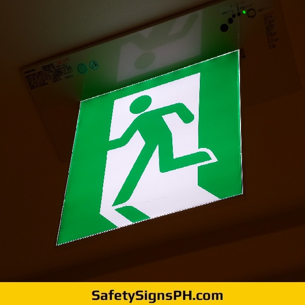 Illuminated Acrylic Fire Exit Sign Philippines