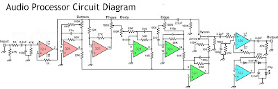 Audio Processor Circuit using IC LM324
