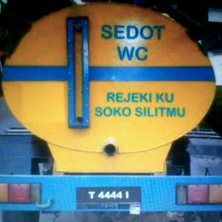 Gambar DP Bbm Tulisan Belakang truk rejeki sedot wc