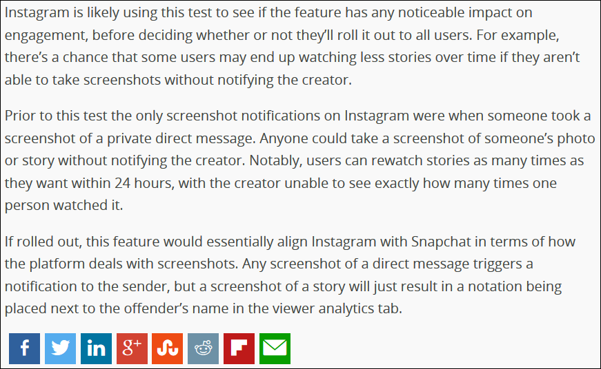 lift the veil from your eyes: 272 | Instagram is testing screenshot