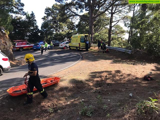 Rescatada ayer una persona en la carretera del Roque de Los Muchachos