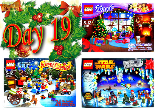 LEGO 41040: Friends, 60063: City, 75056: Star Wars 2014 Advent Calendar, Day Nineteen Review.