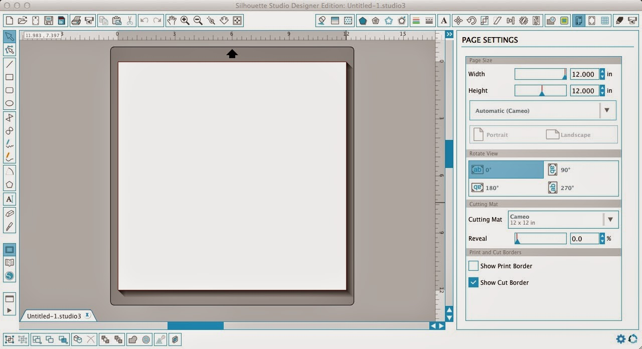 Silhouette Studio, Silhouette tutorial, grid box numbers, show, reveal, page settings