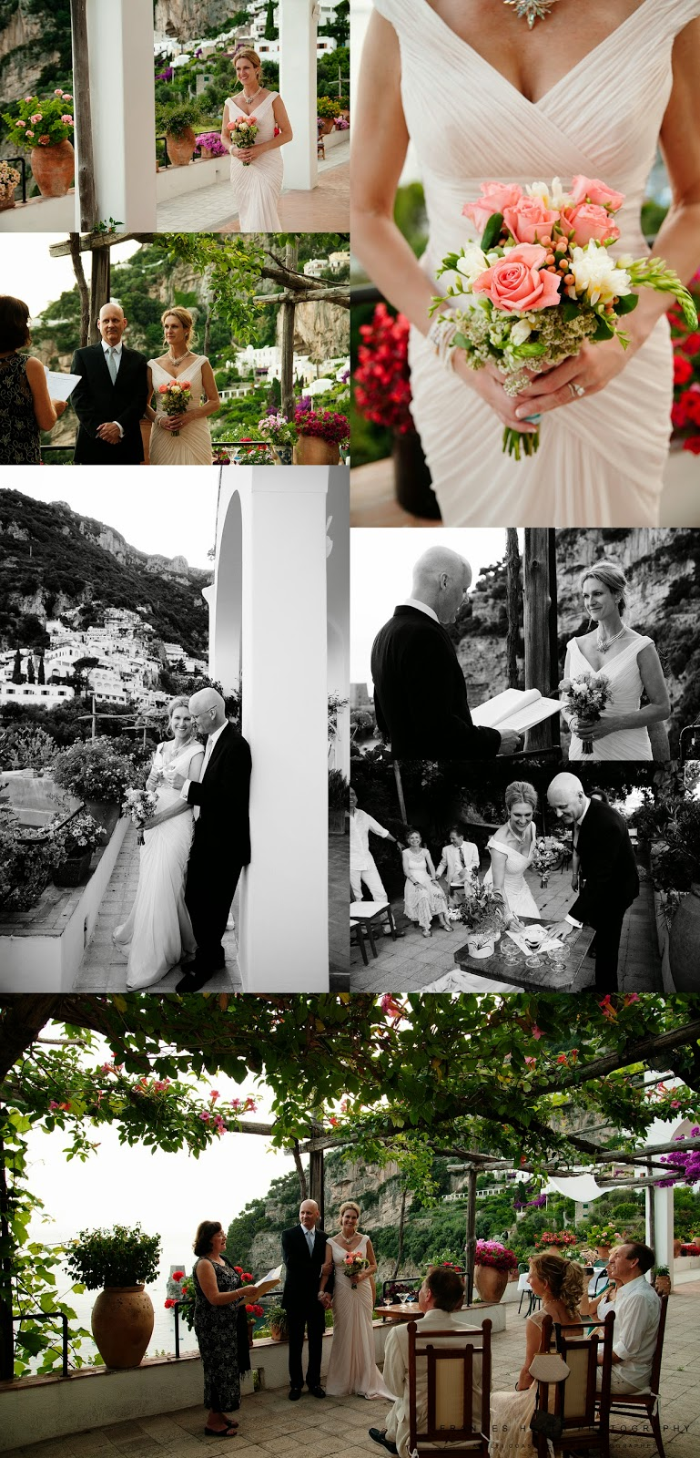 Symbolic wedding ceremony in Positano