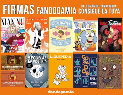 """Horarios de firmas de Fandogamia Editorial en el """"36 Salón Internacional del Cómic de Barcelona""""."""