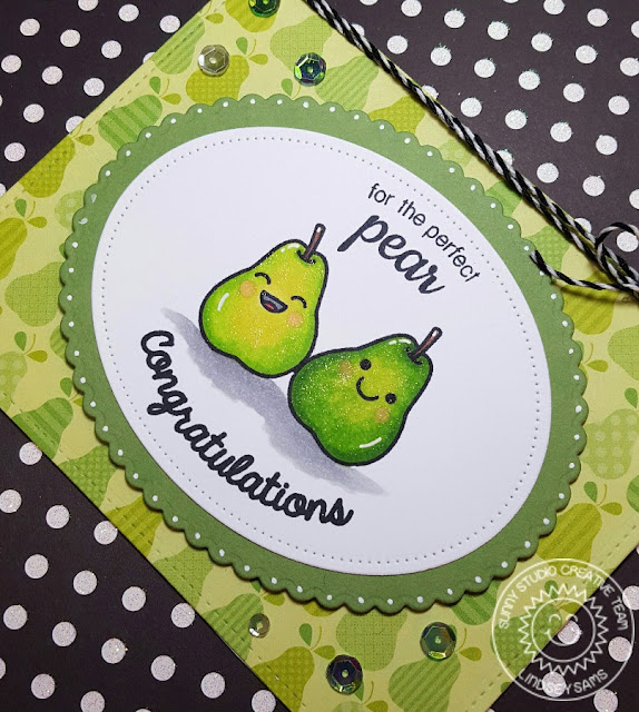 Sunny Studio Stamps: Fresh & Fruity For The Perfect Pear Anniversary Card by Lindsey Bailey.