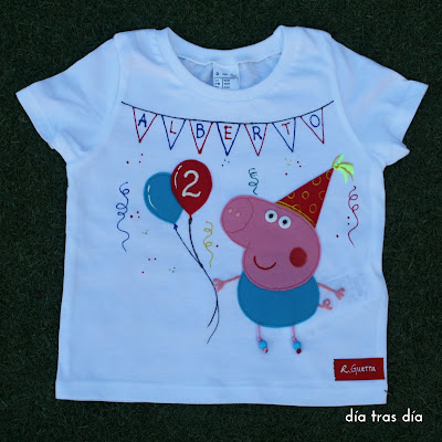 Camiseta Peppa Pig cumpleaños