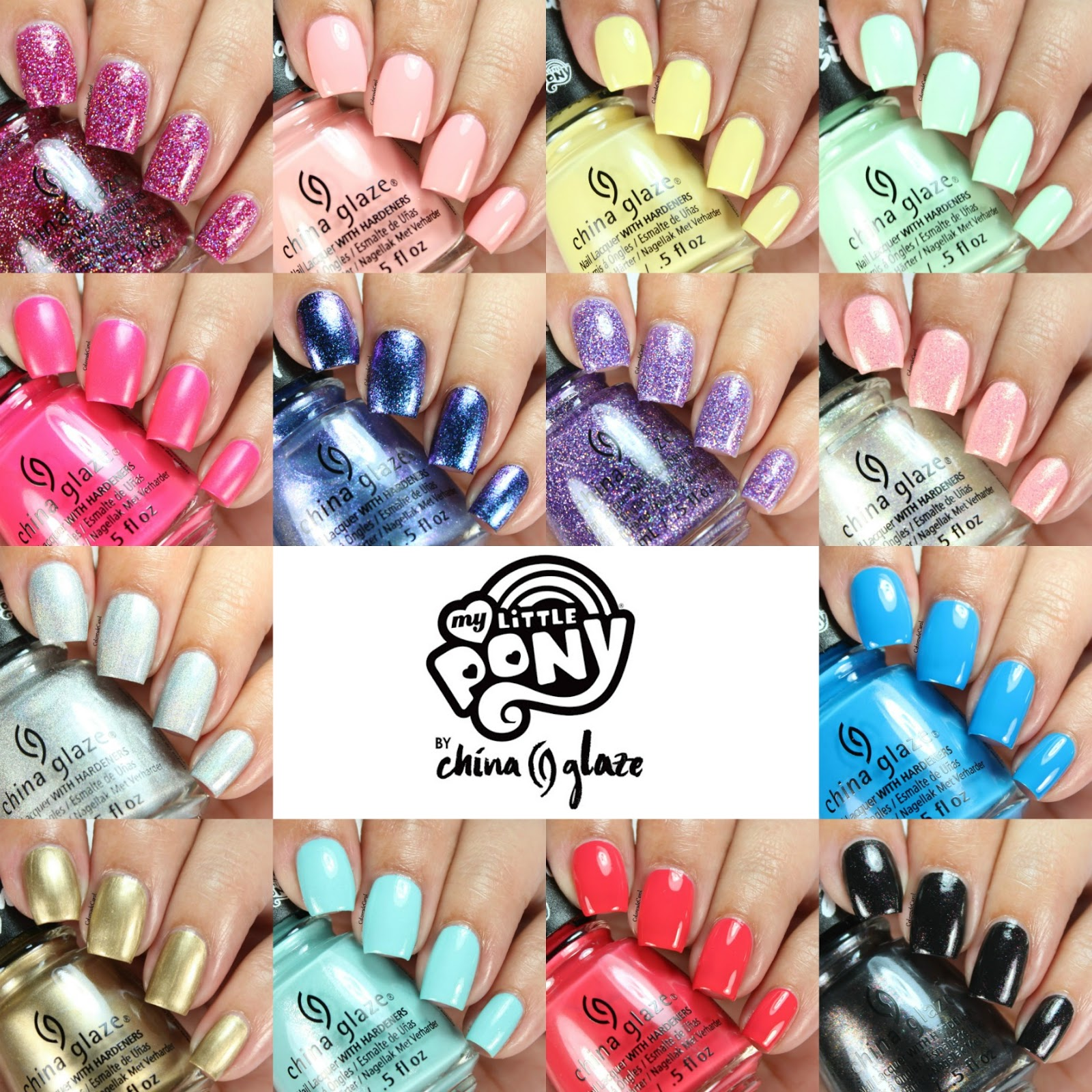 Colores de Carol: China Glaze My Little Pony Collection