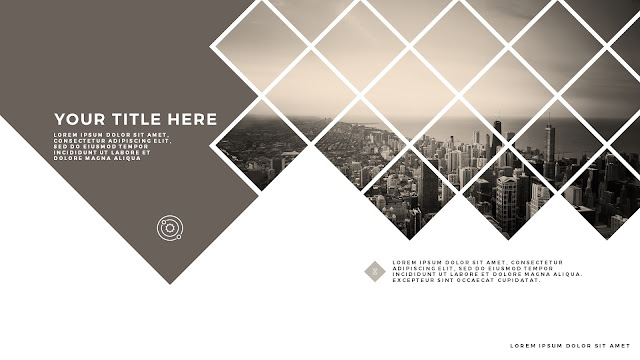 Diamonds Urban Style Title Free PowerPoint Template Slide 3