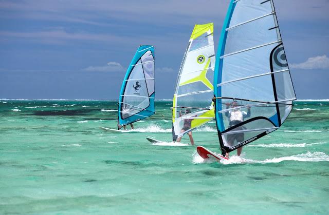Mauritius Windsurfer © MTPA Bamba