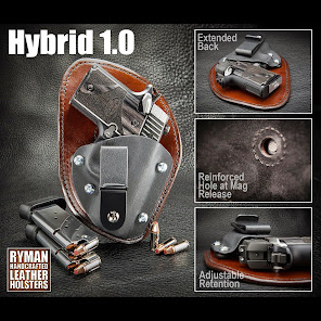 Hybrid 1.0 Leather and Kydex Holster with Suede