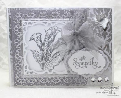 Our Daily Bread Designs, Loving Memories, Butterfly and Bugs, Layered Lacey Squares Dies, Antique Labels and Border Dies, Vintage Labels Dies, Butterfly and Bugs Dies, Designed by Paula Bigelow
