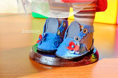 обувь для кукол из фетра