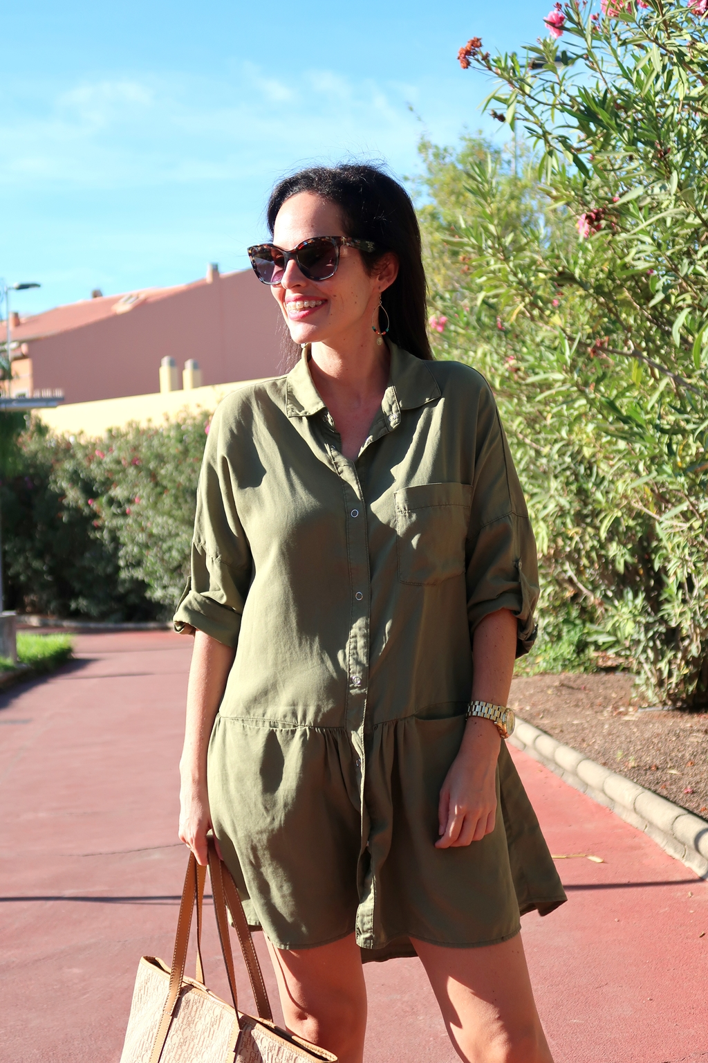 zara-khaki-dress-outfit-streetstyle