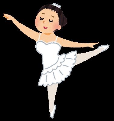 女性バレエダンサー・バレリーナのイラスト