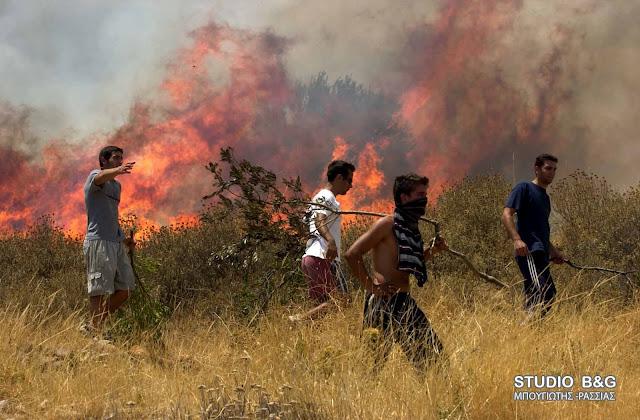 Προσοχή: Πολύ υψηλός ο κινδυνος πυρκαγιάς και την Τετάρτη στην Αργολίδα