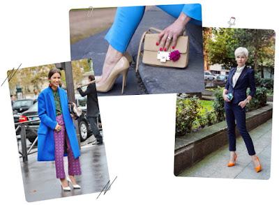 Голубой цвет в одежде сочетание