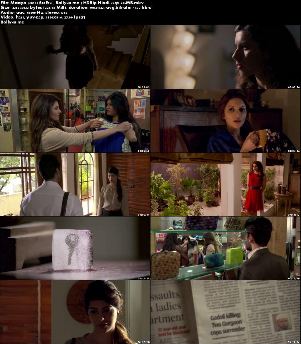 Maaya 2017 S01E04 Web Series HDRip 200MB Hindi 720p Download