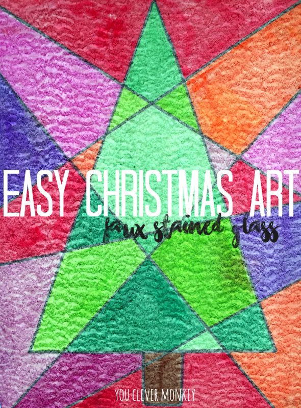 Easy Christmas Art to Try | you clever monkey