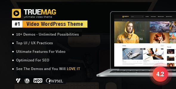 True Mag is an advanced solution for Video hosting websites, Video portfolio and Magazine. We build True Mag with the best practices of UI and UX as well as SEO. This theme will be the perfect choice to deliver your amazing content to viewers.