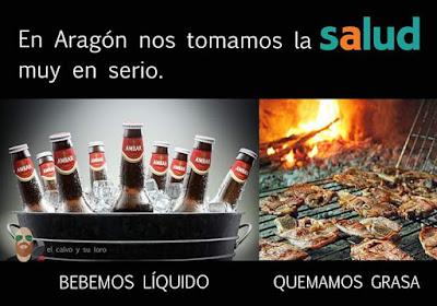 En Aragón nos tomamos la salud muy en serio , bebemos líquido,  quemamos grasa