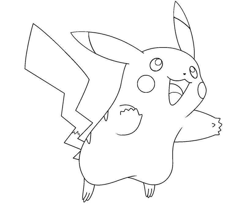 coloring pages of and pikachu